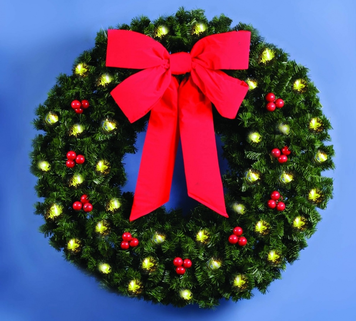 Skyline building front commercial christmas decorations for Led wreath outdoor